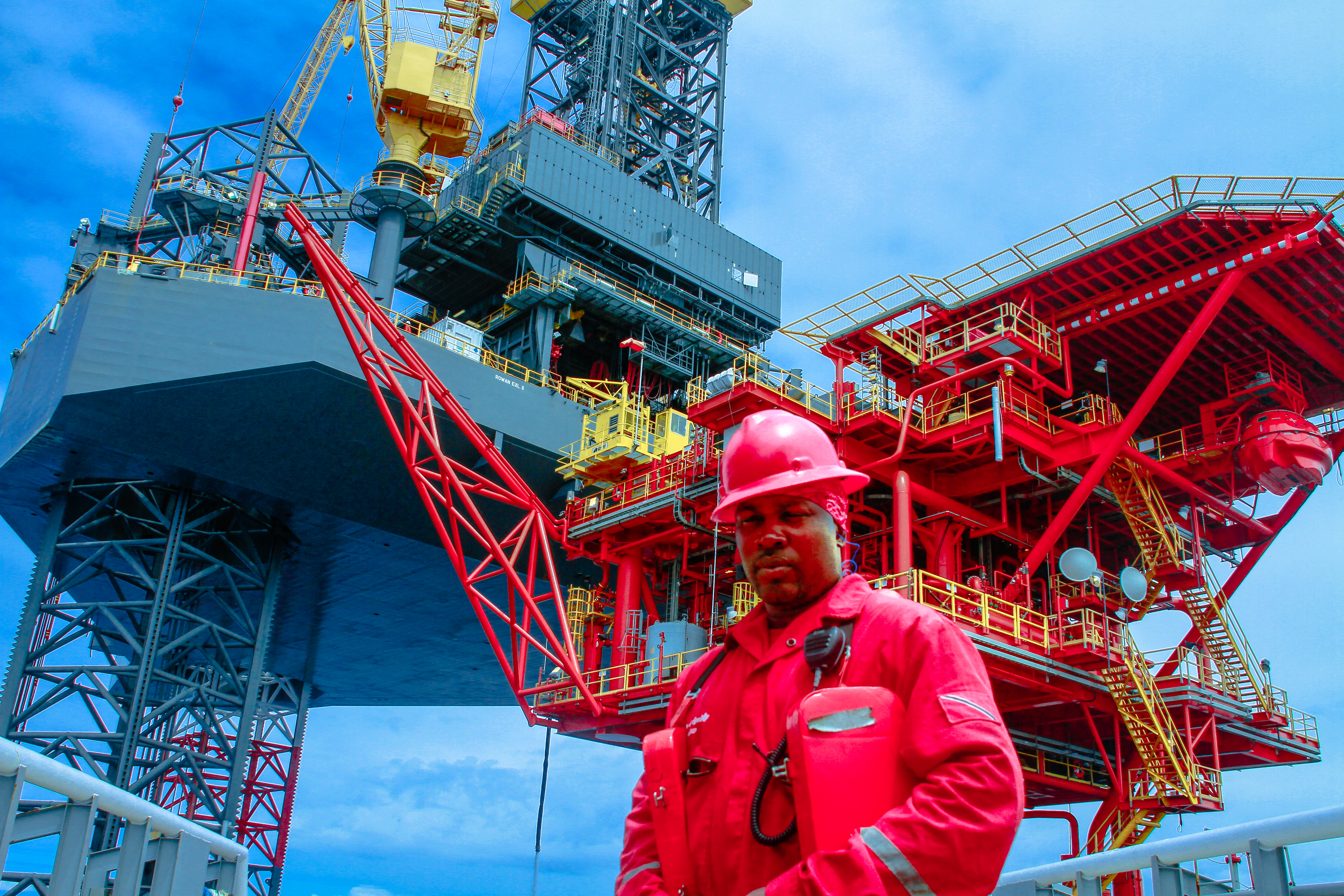 Offshore Rig and Gas Platform